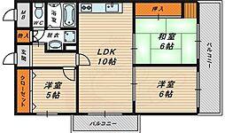 ル・ノール・シャトー 6階3LDKの間取り