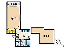 メゾンドカノン[2階]の間取り