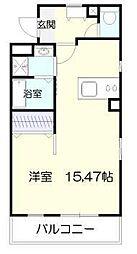 マリベールARASHIII 4階ワンルームの間取り