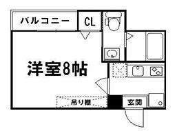 アークリード京都黒門[3階]の間取り