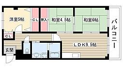愛知県尾張旭市瀬戸川町2丁目の賃貸マンションの間取り