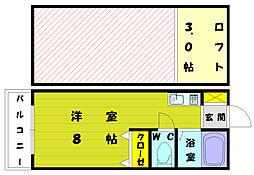 ウイング奈多7[1階]の間取り
