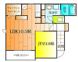 ホークオカモト[1階]の間取り