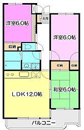 東京都西東京市栄町3丁目の賃貸マンションの間取り