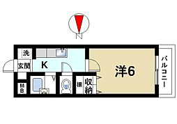 マ・メゾン栄 2階1Kの間取り