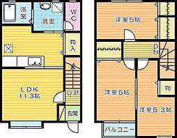 MOON上吉田 B棟[105号室]の間取り