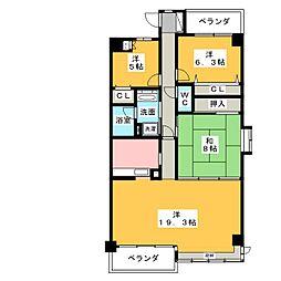 ダイアパレス東白壁A棟[7階]の間取り