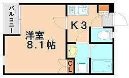 福岡県春日市千歳町3丁目の賃貸アパートの間取り