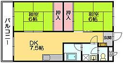 山田ビル[203号室]の間取り