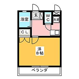 コーポサンキ[3階]の間取り
