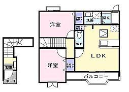 メゾン・ソレイユII[2階]の間取り