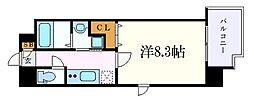 NORITAKE RISE(則武ライズ) 7階1Kの間取り