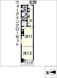 SH SQUARE Kanayama[3階]の間取り