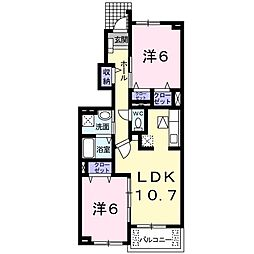 メゾン・ドゥ・ソレイユ B[1階]の間取り