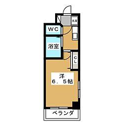 プレサンス京都烏丸御池[1階]の間取り