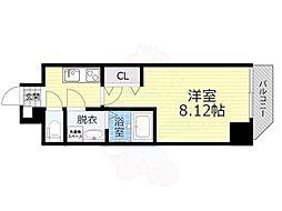 アート桜ノ宮 6階1Kの間取り