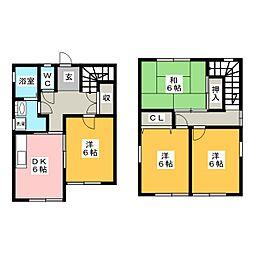 [一戸建] 静岡県藤枝市青木2丁目 の賃貸【/】の間取り