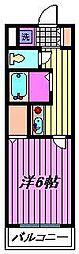 蕨プラザ[3階]の間取り