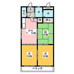 ロイヤルグレース[2階]の間取り