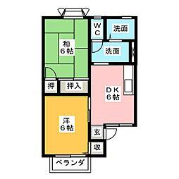 サニーコート B[2階]の間取り