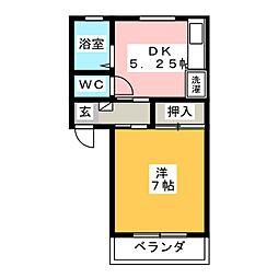 ハイツ安里[2階]の間取り