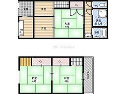 京阪本線 京橋駅 徒歩8分の賃貸一戸建て 1階3DKの間取り