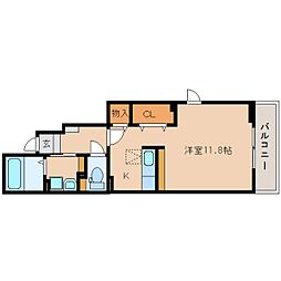 静岡県静岡市葵区与一の賃貸アパートの間取り