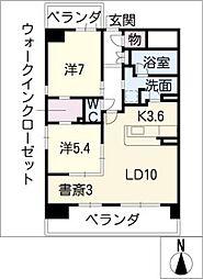 アシベル鶴舞[9階]の間取り