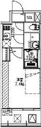 JR大阪環状線 福島駅 徒歩14分の賃貸マンション 5階1Kの間取り