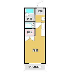 サンコート神宮東[1R号室]の間取り