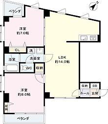 エタニティーマンション和田第三[3階]の間取り