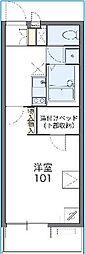 千葉県柏市船戸の賃貸アパートの間取り