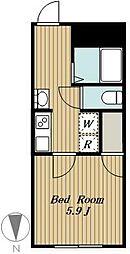 練馬区高松4丁目計画 3階1Kの間取り