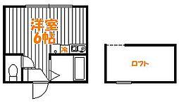 東京都葛飾区亀有3丁目の賃貸アパートの間取り