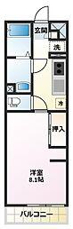 リブリ・霞ヶ関[3階]の間取り