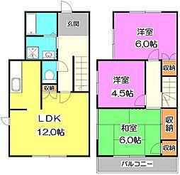 [テラスハウス] 東京都練馬区三原台1丁目 の賃貸【/】の間取り