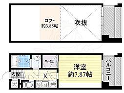 フォレステージュ江坂公園 11階1Kの間取り