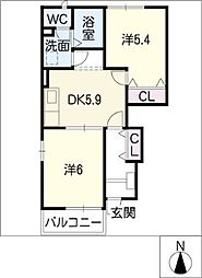 Miyukiコーポ[1階]の間取り