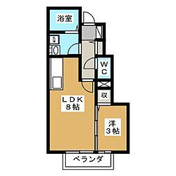 レーブボナール[1階]の間取り