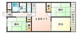 メゾン・モン・ソレイユ[2階]の間取り