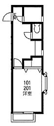 ハイツメイフィー[1階]の間取り