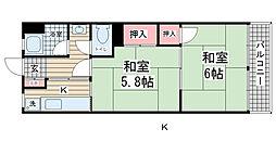 グリーンハイツ花隈[4階]の間取り