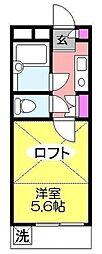ジュネパレス八千代第16[204号室]の間取り