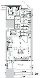 都営浅草線 大門駅 徒歩14分の賃貸マンション 3階ワンルームの間取り
