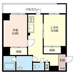 田那村ビル[5階]の間取り