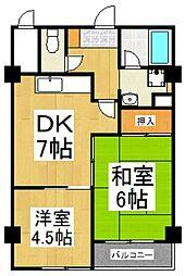 クレール久米川2号館[1階]の間取り