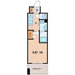 仙台市営南北線 勾当台公園駅 徒歩9分の賃貸マンション 3階1Kの間取り
