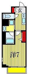 JR総武線 下総中山駅 徒歩7分の賃貸マンション 1階1Kの間取り