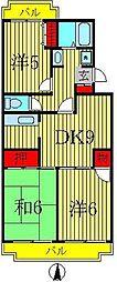第16パールメゾン小倉 1階3DKの間取り