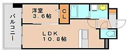 ラウレアK[9階]の間取り